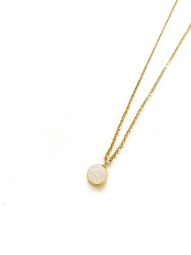 Gold Druzy Necklace - LoobanysJewelry