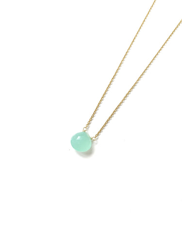 Green Calsedonia Drop Necklace - LoobanysJewelry