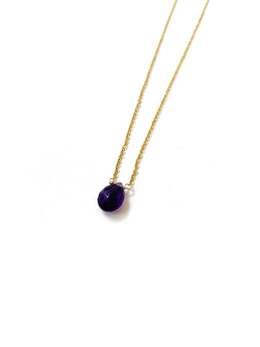 Amatista Drop Necklace - LoobanysJewelry