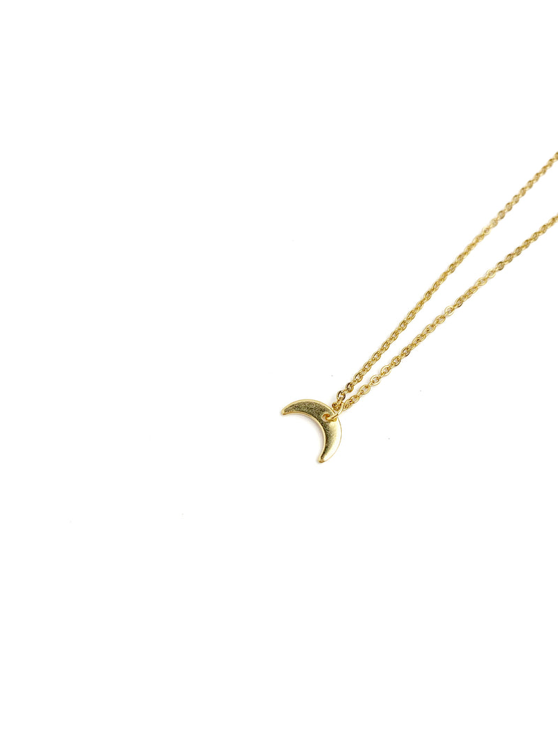 Smal Horn Gold Necklace - LoobanysJewelry