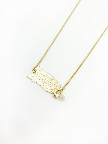City Puerto Map Necklace