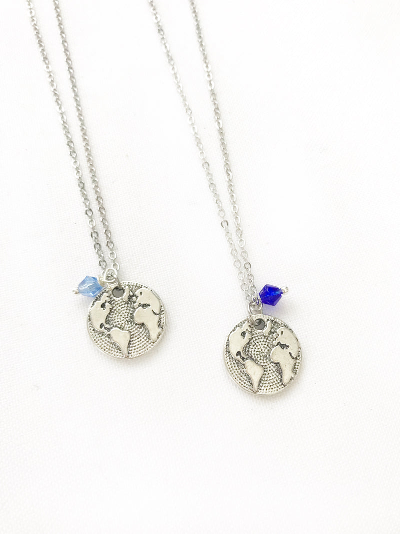 Japan Silver World Necklace - LoobanysJewelry