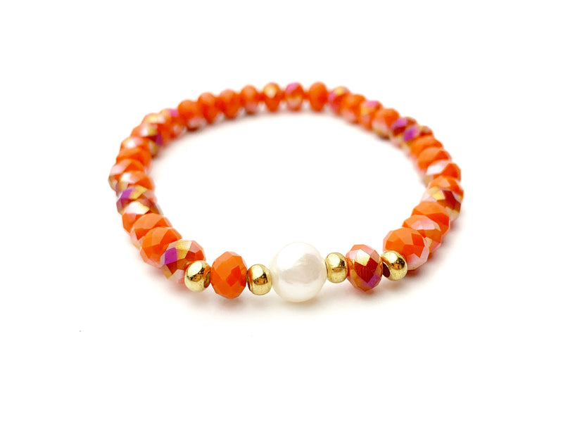 Orange Medium Bead Bracelet - LoobanysJewelry