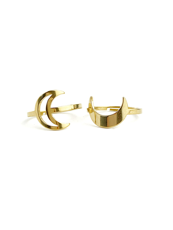 Moon Adjustable Rings - LoobanysJewelry