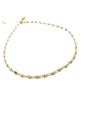 Small Dot Gold Choker - LoobanysJewelry