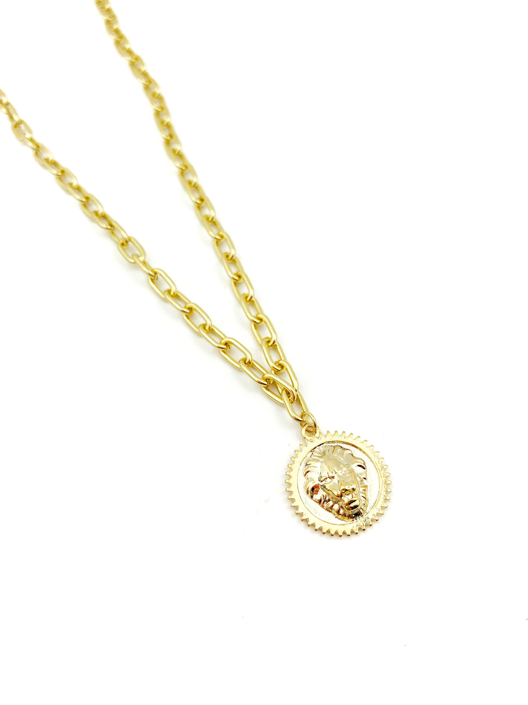 GP chunky Lion Medal Necklace