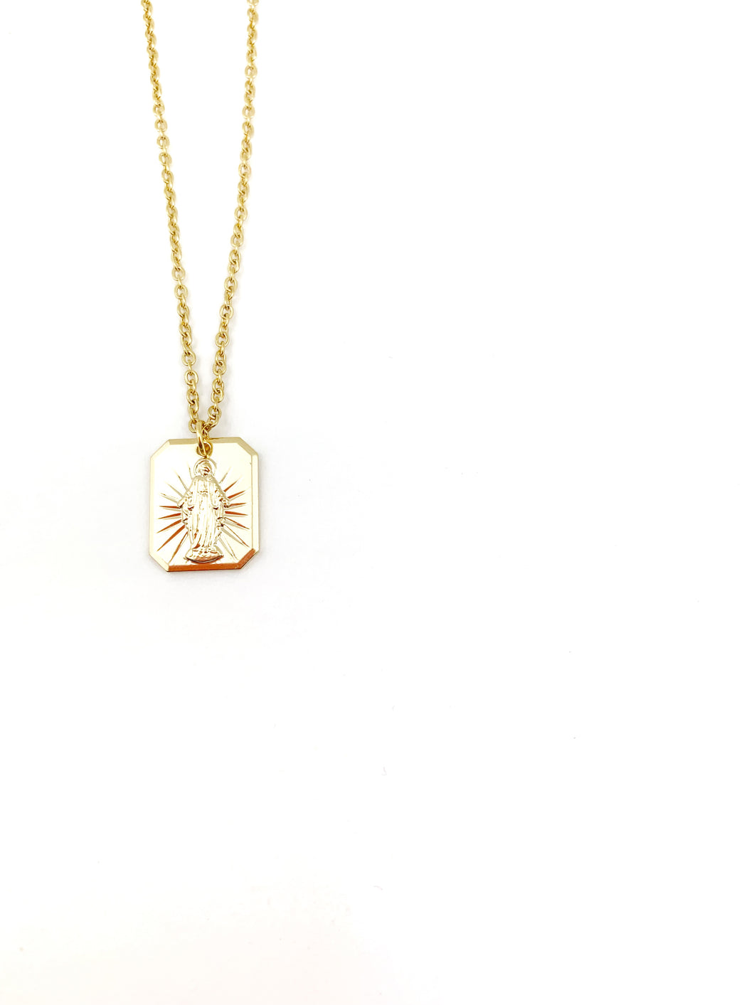 GP Maria Medal Necklace - LoobanysJewelry