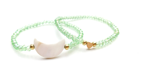 One Form Light Green elastic Bracelet - LoobanysJewelry