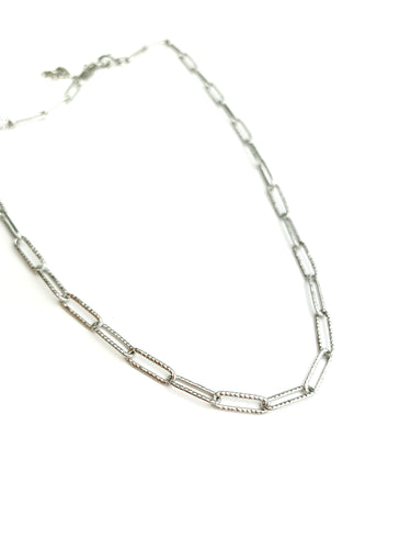 Oval Link Choker Necklaces - LoobanysJewelry