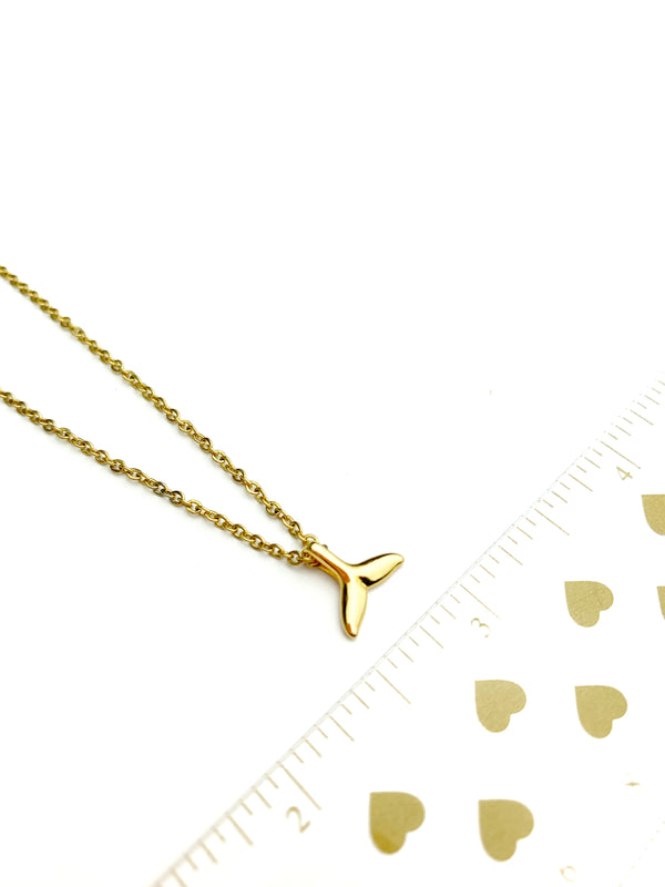 Gold Tail Necklace - LoobanysJewelry