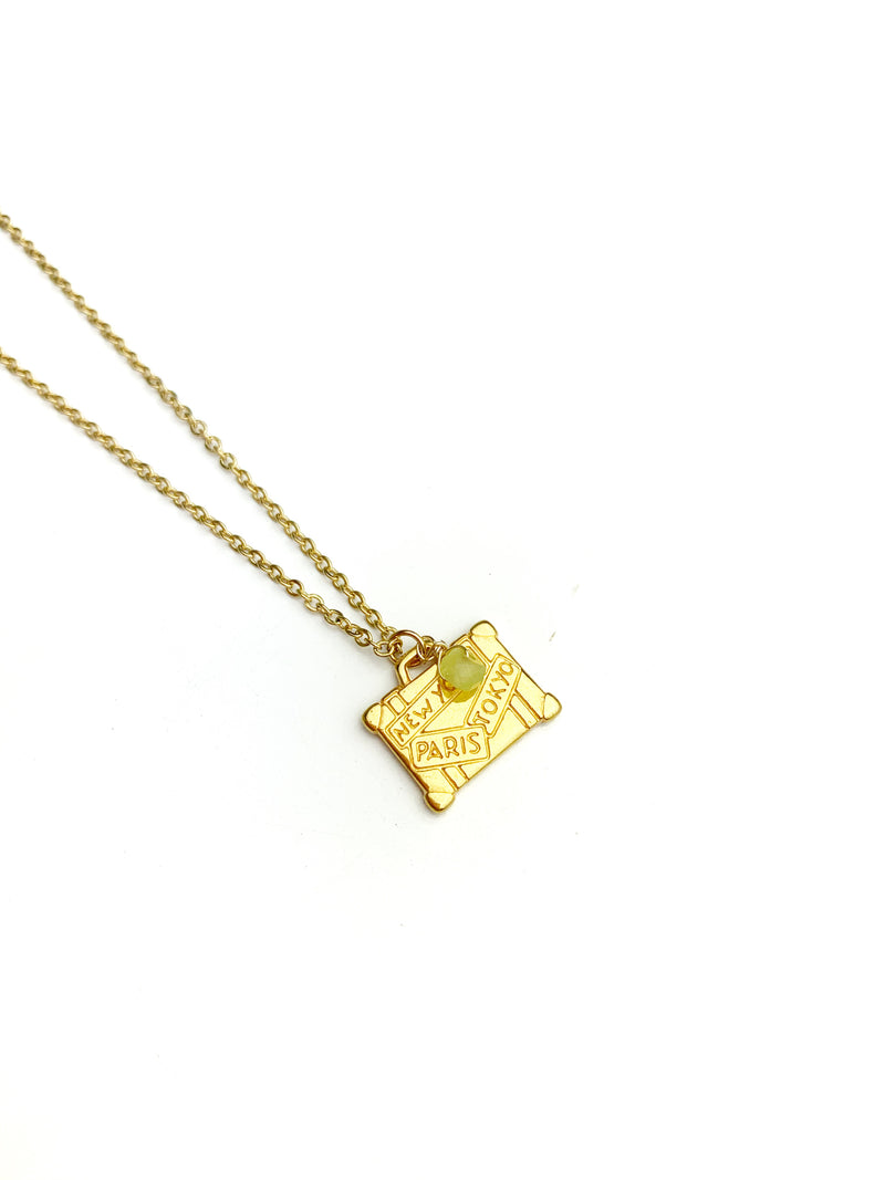 Suit Case Gold Necklaces - LoobanysJewelry