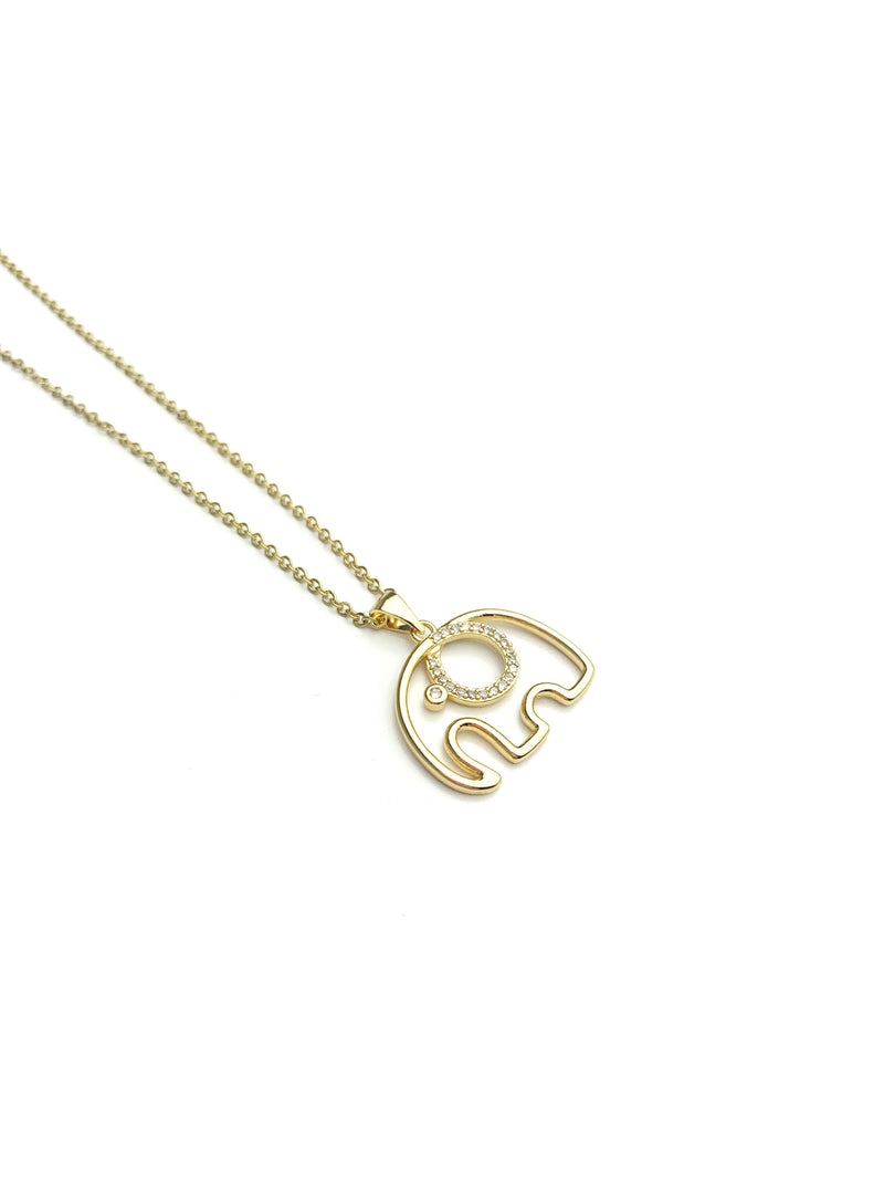 Elephant Gold and Silver Necklace - LoobanysJewelry
