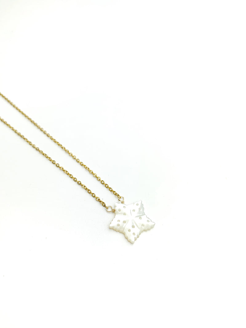 Mother of Pearl Sea Star Necklace - LoobanysJewelry