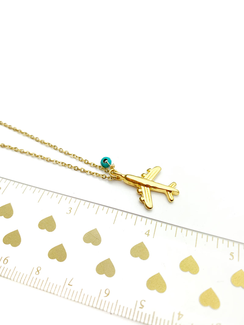 Nairobi Gold Airplane Necklaces - LoobanysJewelry