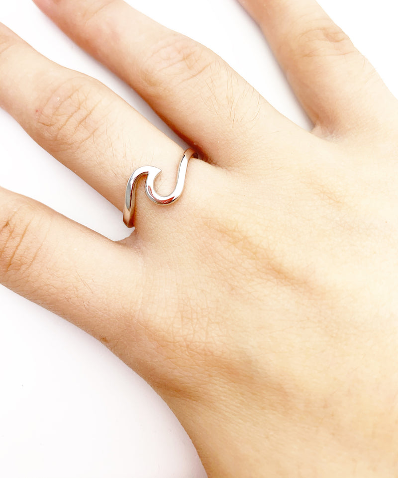 Silver 925 Wave Ring - LoobanysJewelry