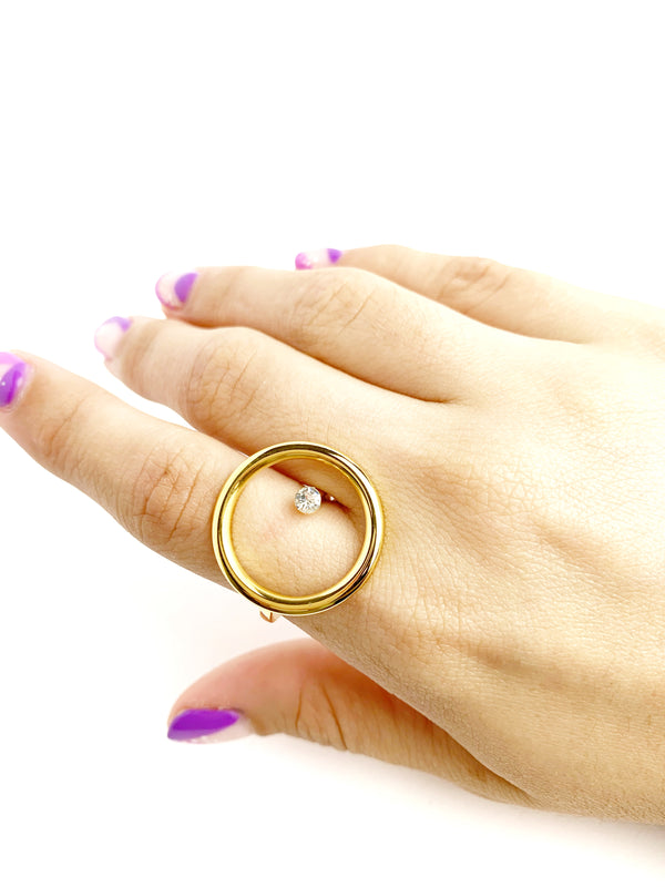 Open Circle Ring - LoobanysJewelry