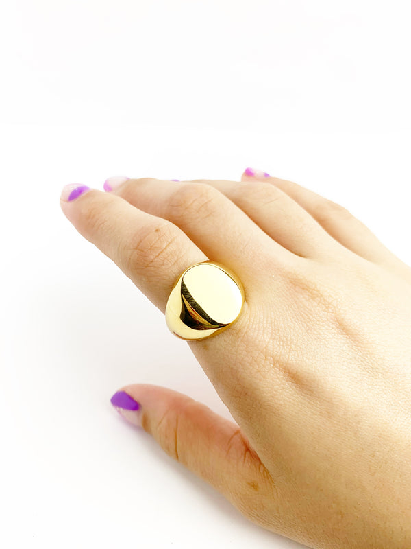 Big Flat Ring - LoobanysJewelry