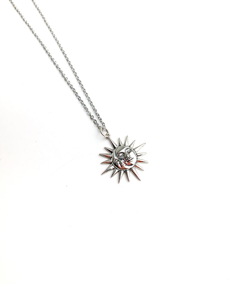 Sun and Moon Silver 925 Necklace - LoobanysJewelry
