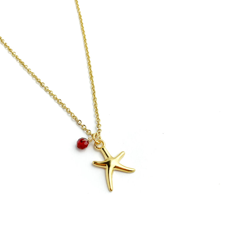 Sea Star Gold Necklaces - LoobanysJewelry