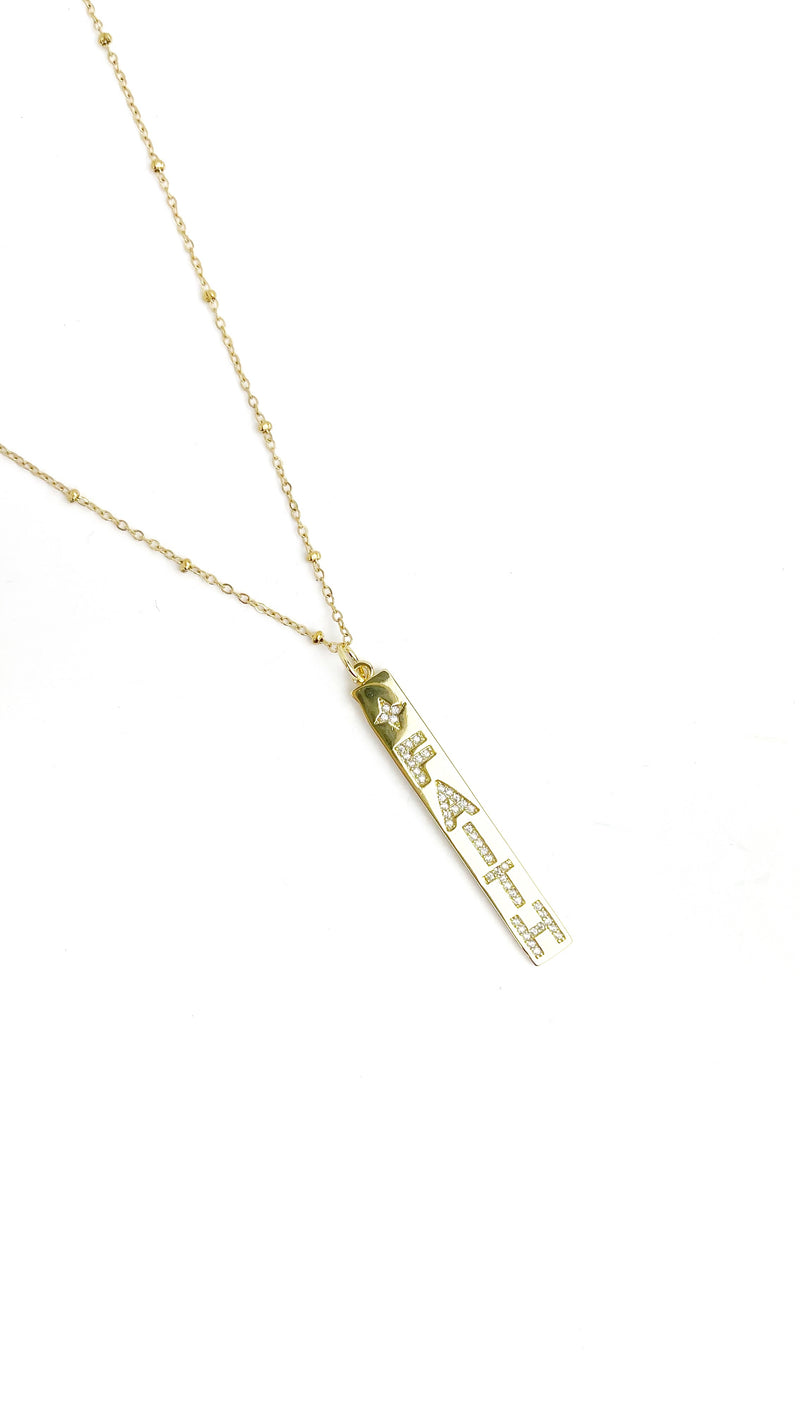 Faith Bar Necklace - LoobanysJewelry