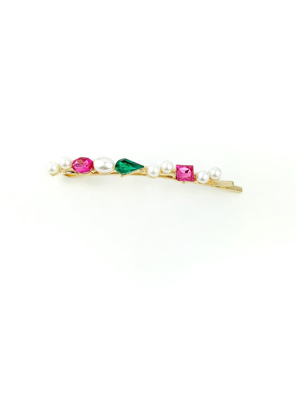 Bright Stone and pearl Hair Pins line - LoobanysJewelry