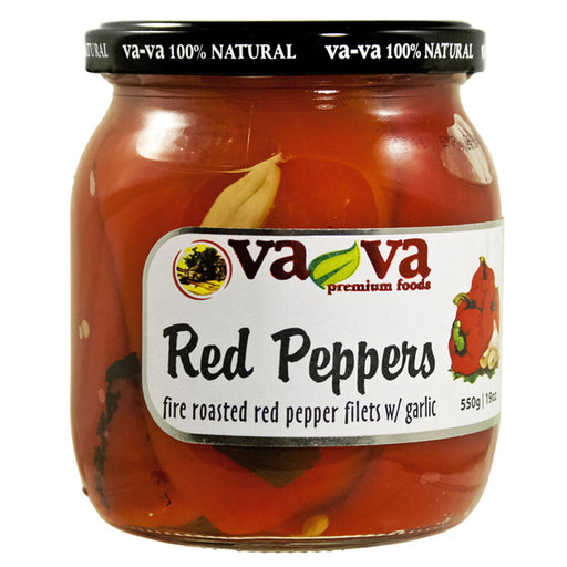 Vava-  Roast Red Peppers 550gr
