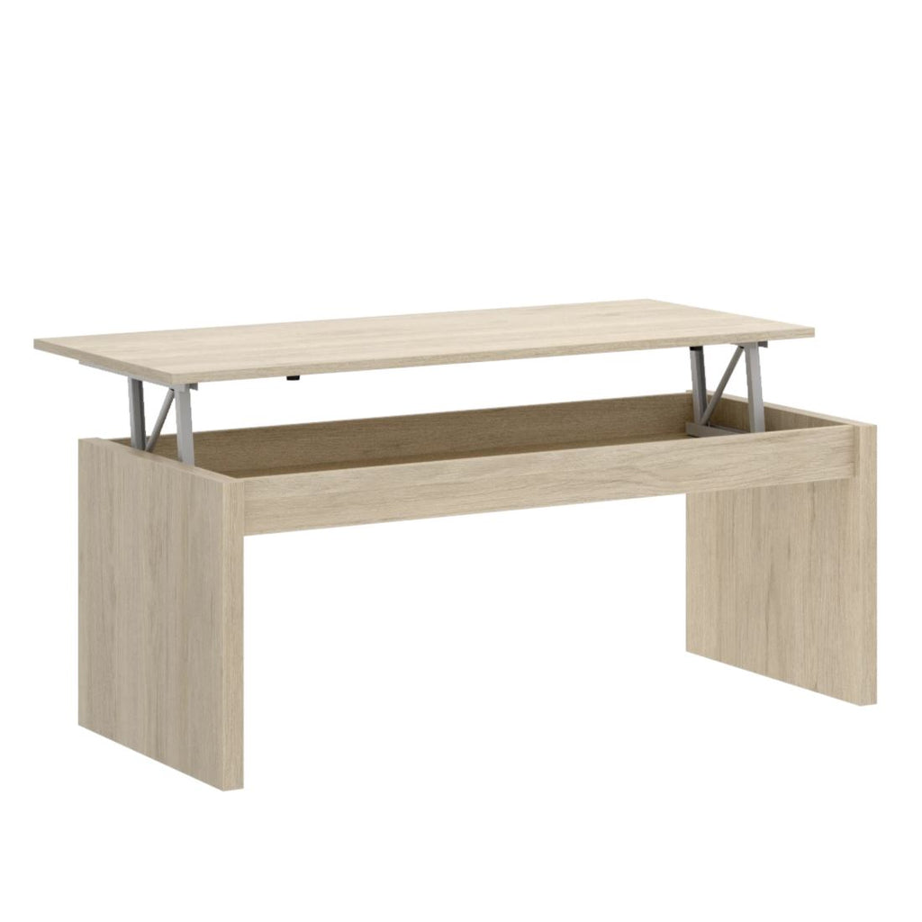 JOB - Mesa de centro elevable 102 cm Roble Natural - muebLISTO