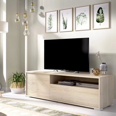 MIKE - Mueble Bajo TV 130 cm Roble Natural - muebLISTO