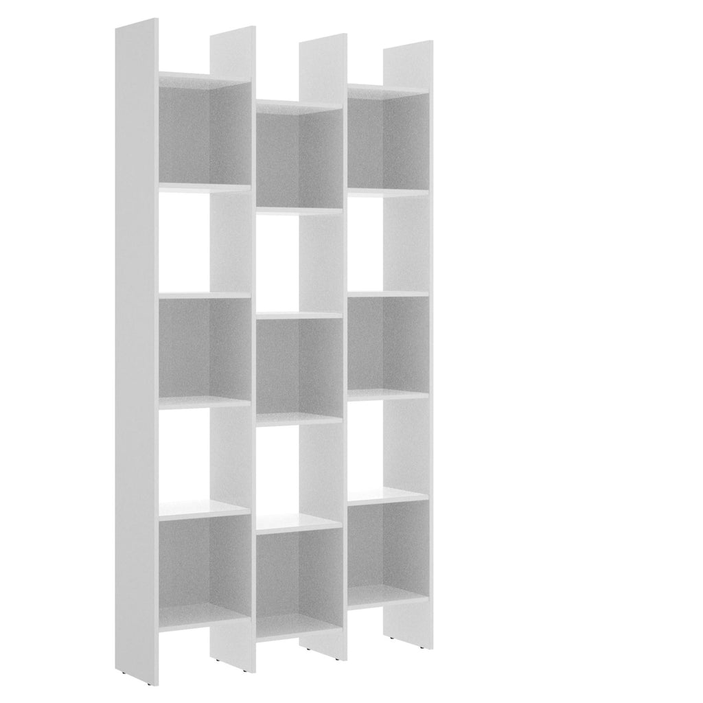 SHELF - Estantería 192x95x29 cm Blanco Brillo - muebLISTO