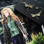 Forest Dragonfly Earrings – Lime