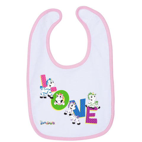 Zig Zag Love by Zoonicorn, Infant Contrast Trim Premium Jersey Bib