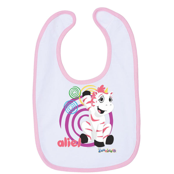 Aliel Swirl by Zoonicorn, Infant Contrast Trim Premium Jersey Bib