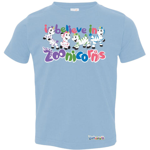 I Believe in Zoonicorns by Zoonicorn, Toddler Fine Jersey T-Shirt