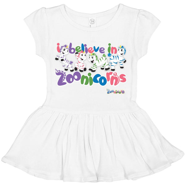 I Believe in Zoonicorns by Zoonicorn, Infant Baby Rib Dress