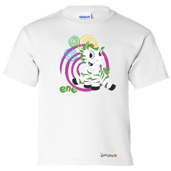 Ene Swirl by Zoonicorn, Short Sleeve Youth T-Shirt