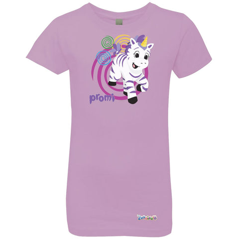 Promi Swirl by Zoonicorn, Girls' Princess Crew T-Shirt