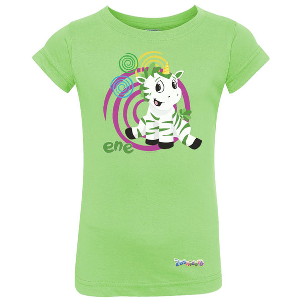 Ene Swirl by Zoonicorn, Toddler Girls Fine Jersey T-Shirt