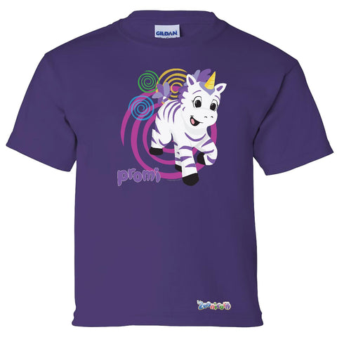 Promi Swirl by Zoonicorn, Short Sleeve Youth T-Shirt