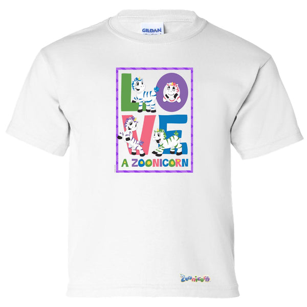 Love A Zoonicorn by Zoonicorn, Short Sleeve Youth T-Shirt