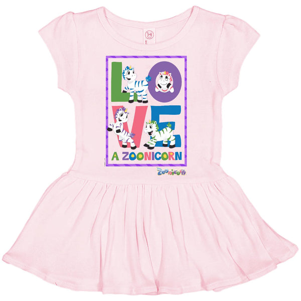 Love A Zoonicorn by Zoonicorn, Infant Baby Rib Dress
