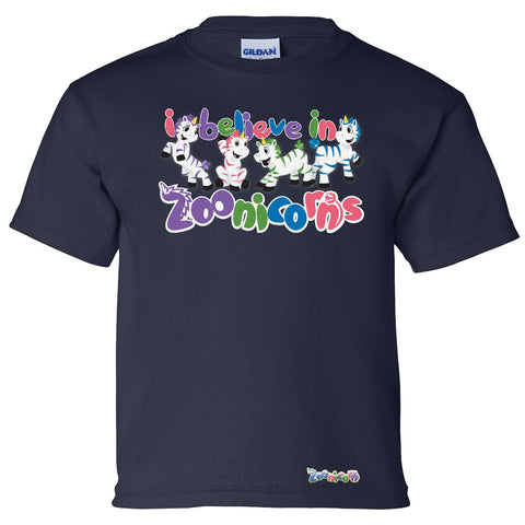 I Believe in Zoonicorns by Zoonicorn, Short Sleeve Youth T-Shirt