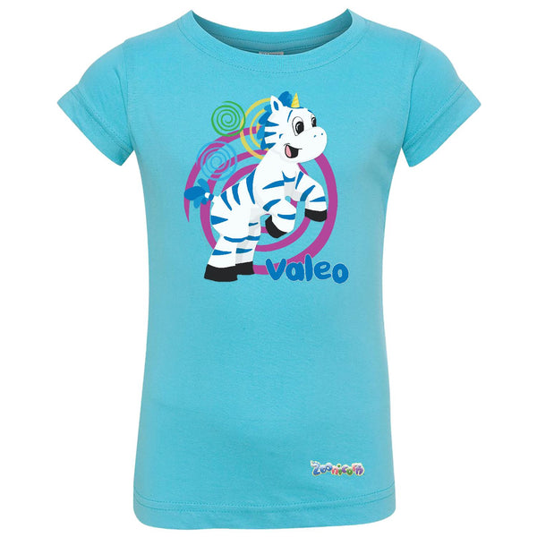 Valeo Swirl by Zoonicorn, Toddler Girls Fine Jersey T-Shirt