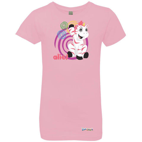 Aliel Swirl by Zoonicorn, Girls' Princess Crew T-Shirt