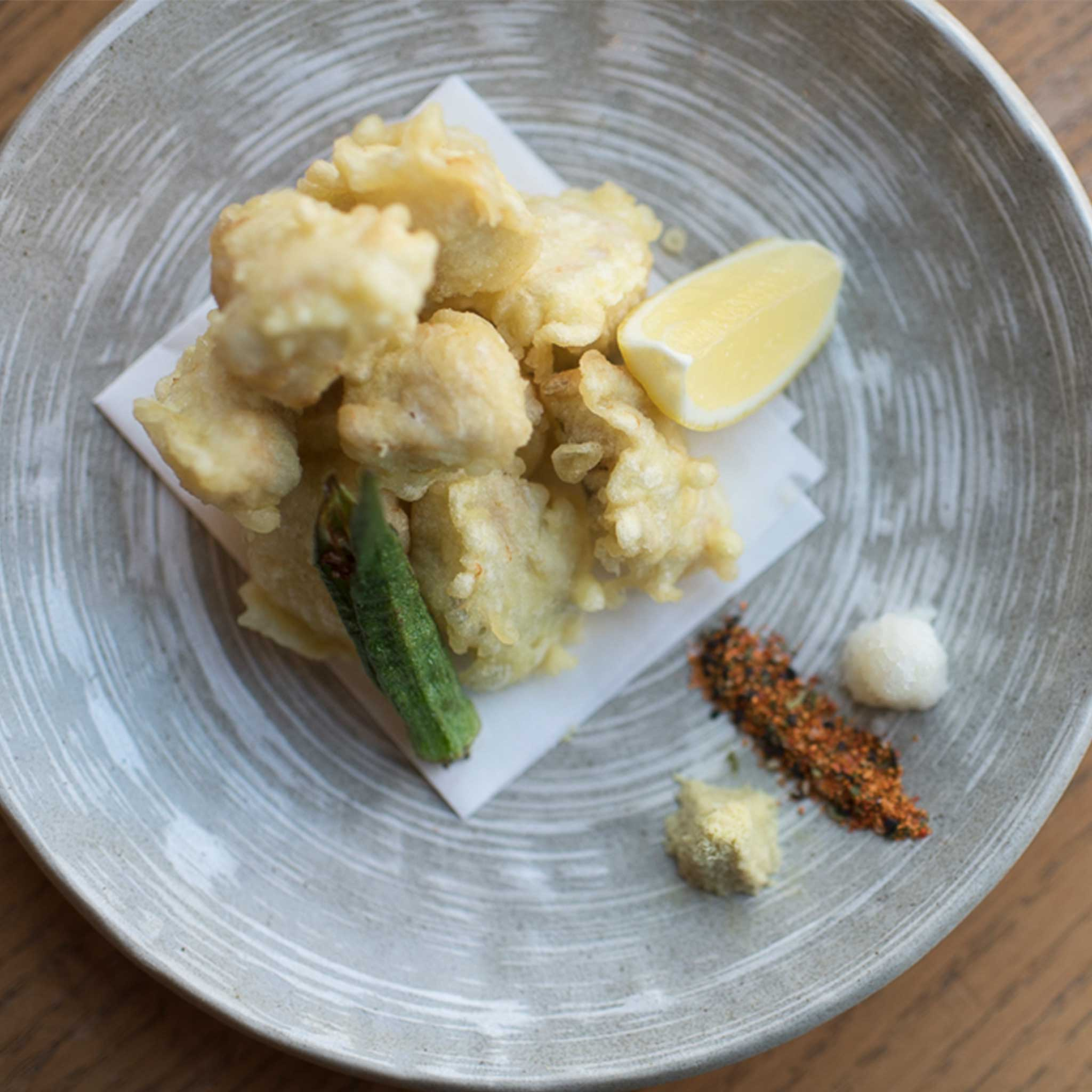 Domestic Black Grouper Tempura