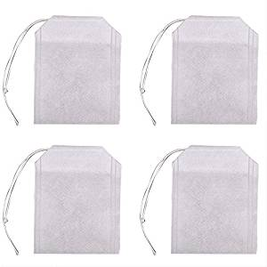 Empty Tea Bag Drawstring Seal Filter Tea Bag 100 Pack