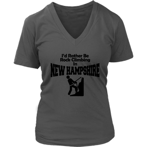 "Women's ""Rock Climbing in NH"" Shirt"