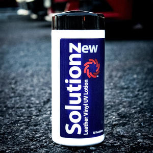 New Solutionz Leather Vinyl UV Lotion Wipes