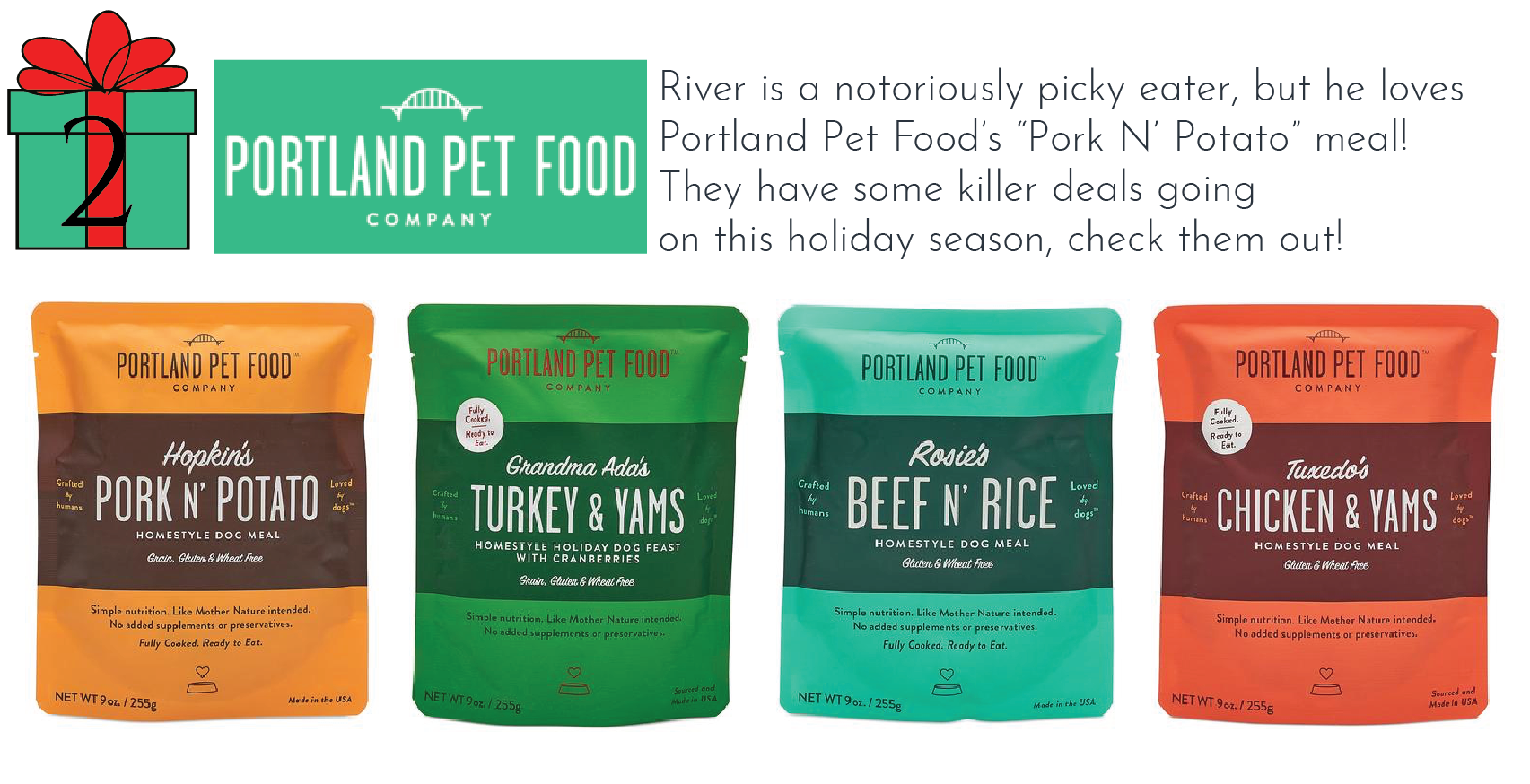 Portland Pet Food - Whyld River top 5 holiday gifts for dog lovers