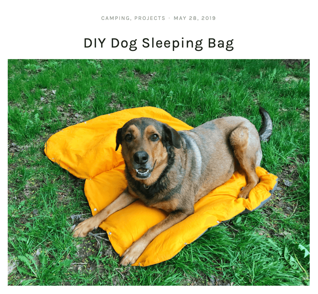 DIY dog sleeping bag mel makes a mess blog from whyld river page