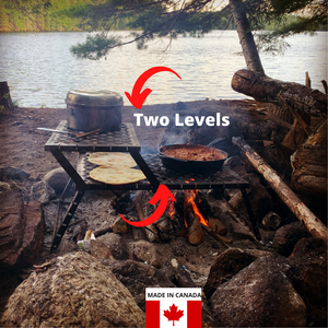 GOSO 2-Level Campfire Grill - Made in Canada